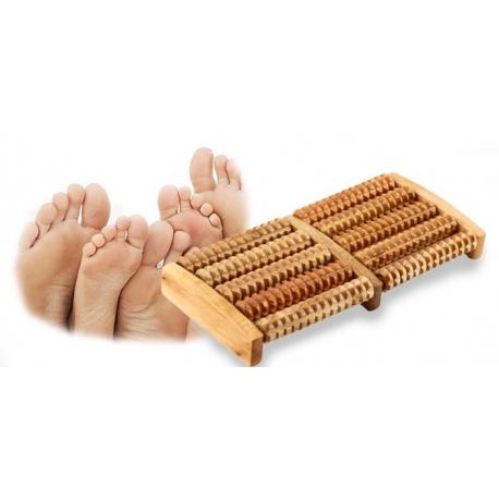 Drewniany masażer do stóp