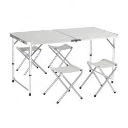 Składany stolik turystyczny z 4 krzesłami