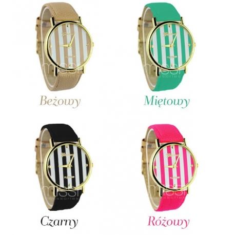 Zegarek damski Geneva PLATINUM w modne paski