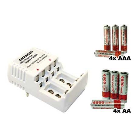 8 akumulatorów z ładowarką
