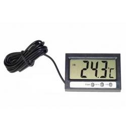 Termometr LCD z sondą wewnętrzny - zewnętrzny